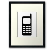 Cell phone mobile Framed Print