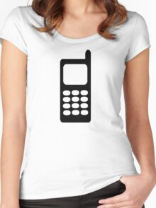 Cell phone mobile Women's Fitted Scoop T-Shirt