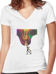 """Jon Bellion """"The Definition Women's Fitted V-Neck T-Shirt"""