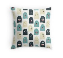 Lovely monsters Throw Pillow