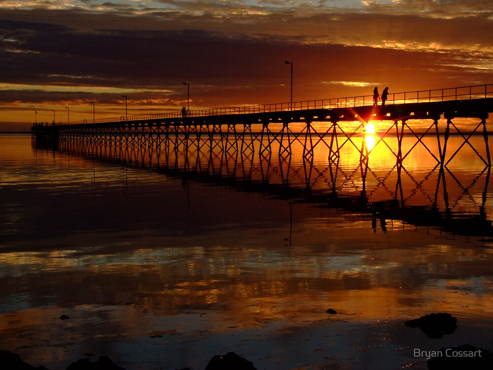 Ceduna Wharf at Sunset by Bryan Cossart