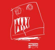 Monsters By Gusten #2 WHITE Kids Tee