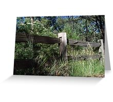 Australian Bush Country post-and-rail fence Greeting Card