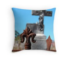 Rusty Cross Throw Pillow