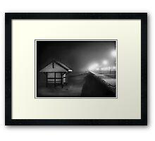 Black & white shed Albert Park Framed Print