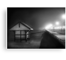 Black & white shed Albert Park Canvas Print