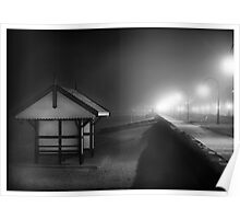 Black & white shed Albert Park Poster