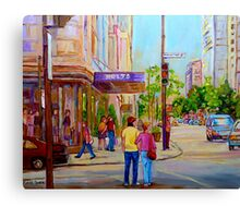 DOWNTOWN MONTREAL CANADIAN CITIES PAINTINGS BY CANADIAN ARTIST CAROLE SPANDAU Canvas Print