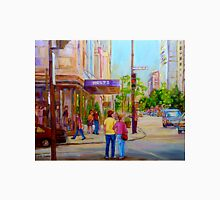 DOWNTOWN MONTREAL CANADIAN CITIES PAINTINGS BY CANADIAN ARTIST CAROLE SPANDAU Unisex T-Shirt