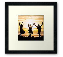 Sunset Yoga Framed Print
