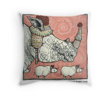 Neushoorn Throw Pillow