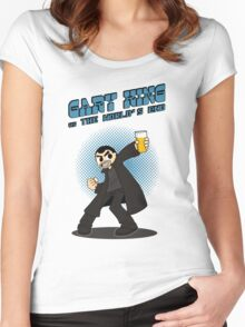 Gary King vs The World's End - Blue Women's Fitted Scoop T-Shirt