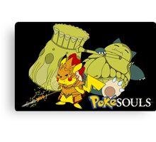 Snorlax & Pikachu Canvas Print