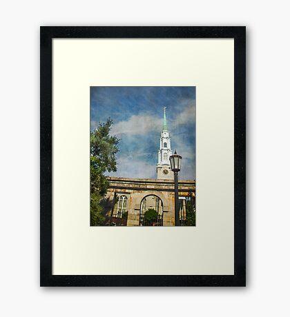 Historic Savannah Church Framed Print