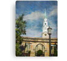 Historic Savannah Church Canvas Print