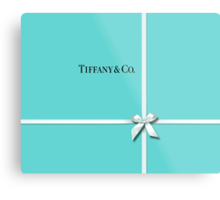 Tiffany & Co. Classic Blue Box & Ribbon Metal Print
