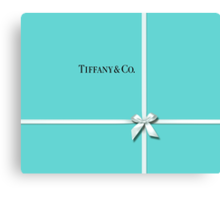 Tiffany & Co. Classic Blue Box & Ribbon Canvas Print