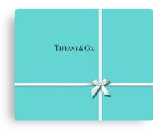 Tiffany & Co. Classic Blue Box & Ribbon Canvas Print