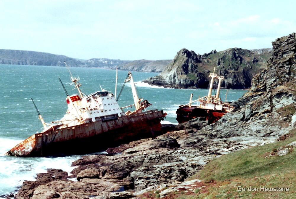 Shipwreck at Prawle Point by Gordon Hewstone