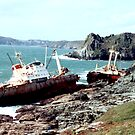 Shipwreck at Prawle Point by Gordon Hewstone