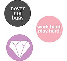 boss lady (set of 3 stickers) Photographic Print