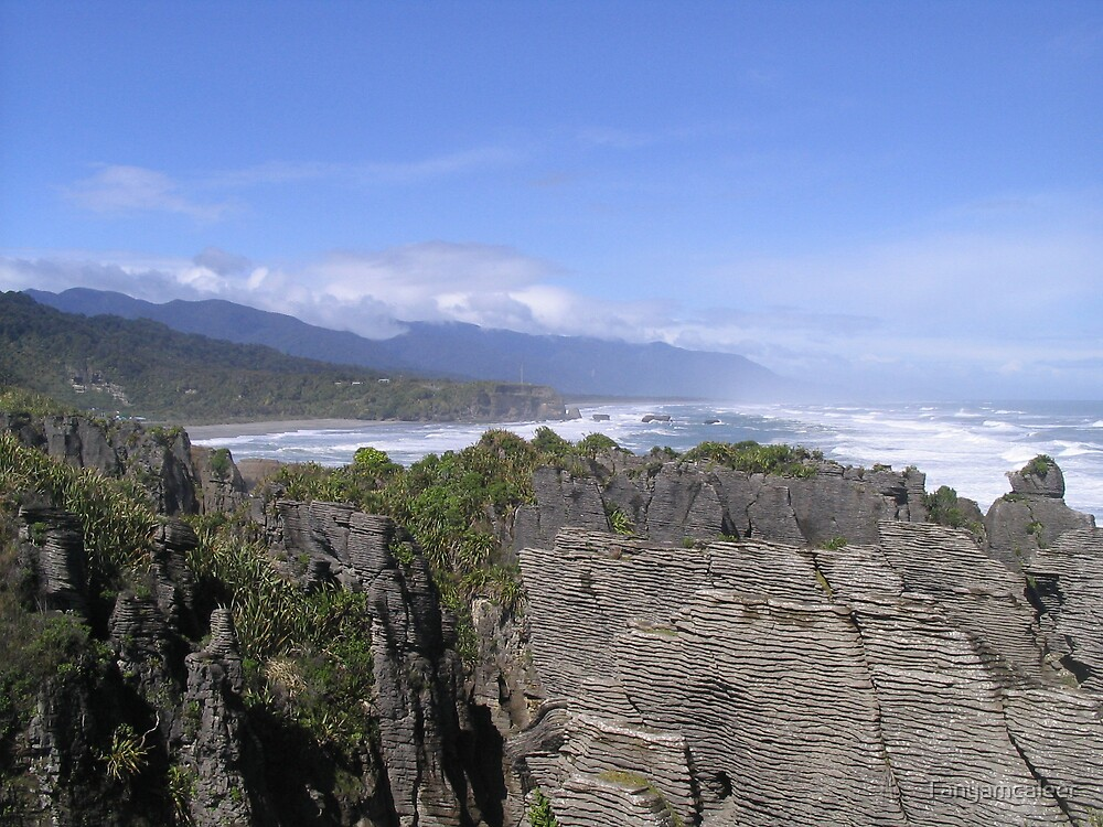 Pancake Rocks, New Zealand by Tanyamcaleer