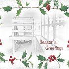 "Snowy Beach ""Season's Greetings"" ~ Greeting Card by Susan Werby"