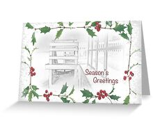 "Snowy Beach ""Season's Greetings"" ~ Greeting Card Greeting Card"