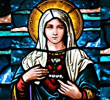 Stain Glass Mary by BadBehaviour