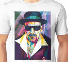 Pop Art Contemporary Artist Ultimate Gangster Conqr Bright 3d digital vector heisenberg breaking bad Unisex T-Shirt