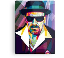 Pop Art Contemporary Artist Ultimate Gangster Conqr Bright 3d digital vector heisenberg breaking bad Metal Print