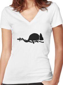 Chameleon Women's Fitted V-Neck T-Shirt
