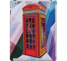 Pop Art Contemporary Artist Conqr Bright 3d digital vector london telephone booth landmark iPad Case/Skin