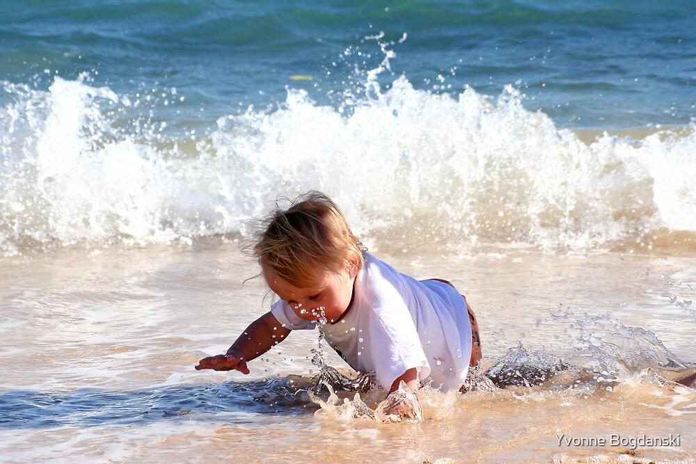 On the beach by Yvonne Bogdanski