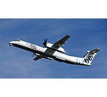 Flybe Dash 8 Q-400 at Manchester Airport Photographic Print