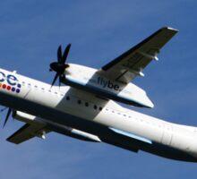 Flybe Dash 8 Q-400 at Manchester Airport Sticker