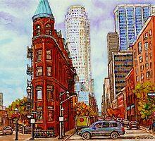 TORONTO FLATIRON BUILDING PAINTING CANADIAN CITY SCENE BY CANADIAN ARTIST CAROLE SPANDAU by Carole  Spandau