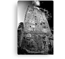 Blarney Castle, Ireland (b/w) Canvas Print