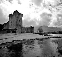 Ross Castle, Killarney, Ireland (b/w) by ThomasMaher