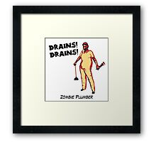 Zombie Plumber - borderless Framed Print