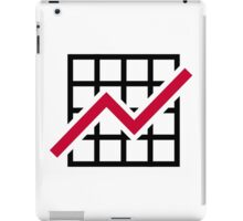 Chart growth profit iPad Case/Skin