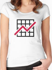 Chart growth profit Women's Fitted Scoop T-Shirt