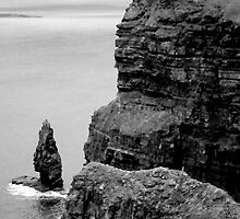 O'Briens Tower at the Cliffs of Moher, Ireland (b/w) by ThomasMaher