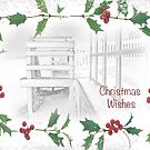 "Snowy Beach ""Christmas Wishes"" ~ Greeting Card by Susan Werby"