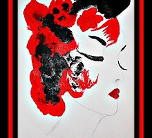 Funky Geisha Girl by ShellyKay