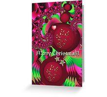 Festive Fractal Merry Christmas Text card Greeting Card