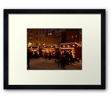 Christmas market in Gamla Stan Framed Print