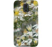 Closeup of White Prairie Asters Samsung Galaxy Case/Skin