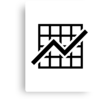 Chart growth profit Canvas Print