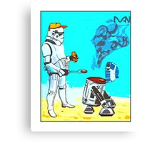 Stormtrooper griddle! Canvas Print